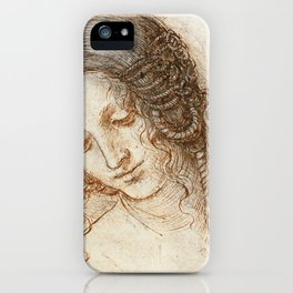 Leonardo da Vinci - Head of Leda iPhone Case