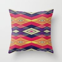 native Throw Pillows featuring native by spinL