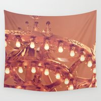 chandelier Wall Tapestries featuring Bronze Chandelier by Jessica Torres Photography