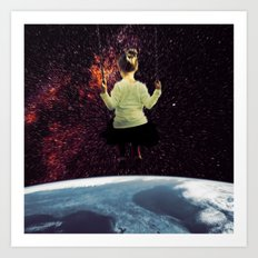 Girl from Space Art Print