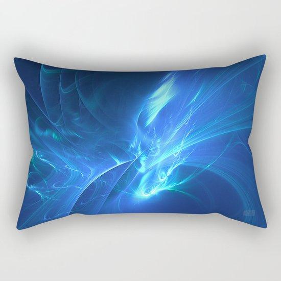 Electric Blue Fractal Rectangular Pillow