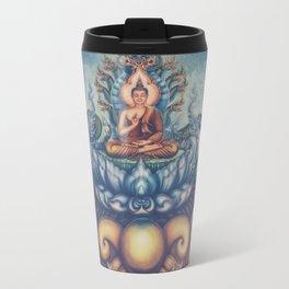 Buddah blue temple Travel Mug