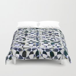 abstract tile in shade of blues Duvet Cover