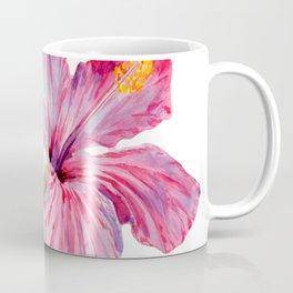 Tropical Pink Hibiscus Watercolor Coffee Mug