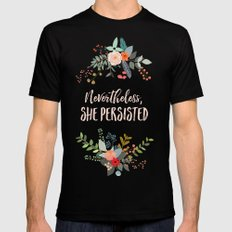 Nevertheless, She Persisted X-LARGE Black Mens Fitted Tee