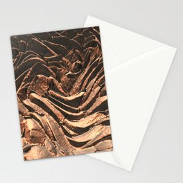 Macro Copper Abstract Stationery Cards