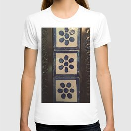 Flower tile and metal T-shirt