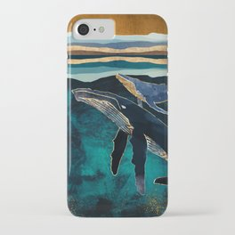 Moonlit Whales iPhone Case