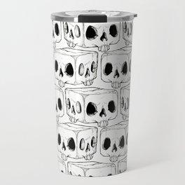 Infinite Square Skulls  Travel Mug