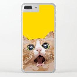 Funny Cat Meme Clear iPhone Case