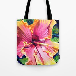 Tropical Bliss Hibiscus Tote Bag