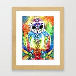 Chakra Owl Framed Art Print