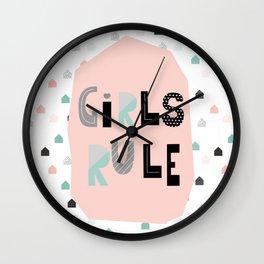 Girls Rule! Wall Clock