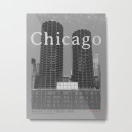 Chicago: Marina City Towers Metal Print