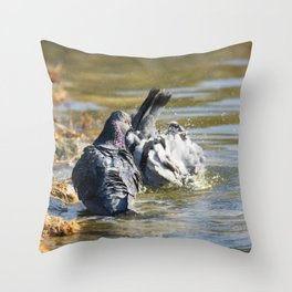 Dude! You'll scare all the chicks! Throw Pillow