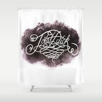 dick Shower Curtains featuring Total Dick by Call me Calliope