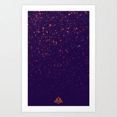 Trail Status / Purple Art Print