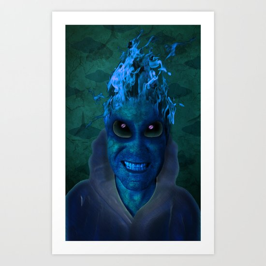BLUE PLANET ALIEN (Us And Them) Art Print