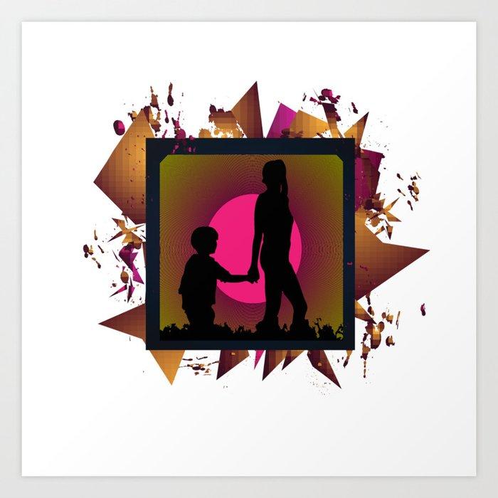 Messy family Art Print