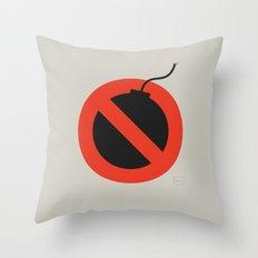 No Bombing Allowed Throw Pillow