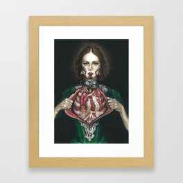 Open Hearted Framed Art Print