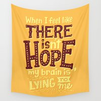 risa rodil Wall Tapestries featuring There is hope by Risa Rodil