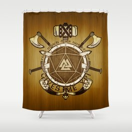 Viking Barbarian Experience Points Shower Curtain