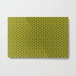 round circles pattern graphic yellow Metal Print