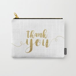 Thank You | Gold Glitter Carry-All Pouch