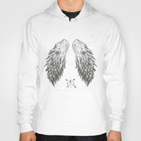 wings Hoodies featuring wings by Julia