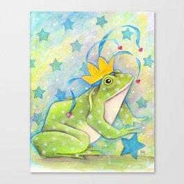 Whimiscal Bull Frog Canvas Print
