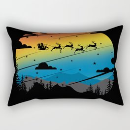 Santa in Grunge Colors Rectangular Pillow