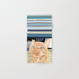 Oliver the Sniffy Red Tabby Cat Hand & Bath Towel