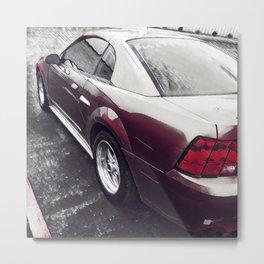 Red Mustang Metal Print
