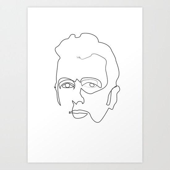 One line Joe Strummer Art Print