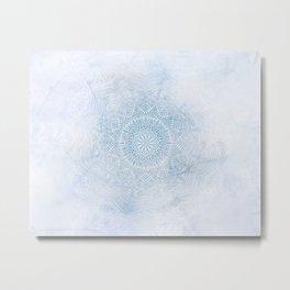 Frosty mandala Metal Print