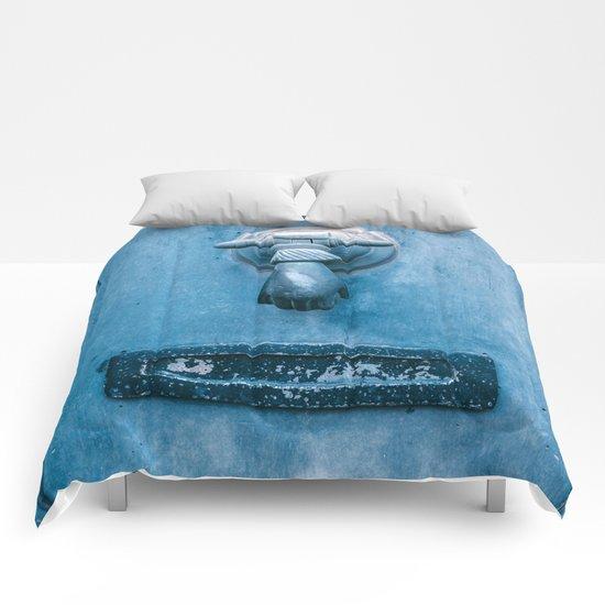 Blue Doorknocker Comforters