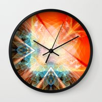 angel Wall Clocks featuring Angel by Christine baessler