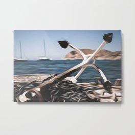 Anchor off shore Metal Print