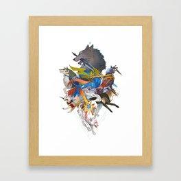 Dogs With Swords Framed Art Print