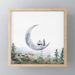 Moon House Framed Mini Art Print