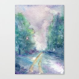 Haunted Lane Canvas Print