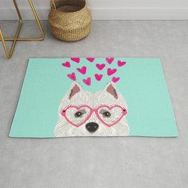 Westie west highland terrier white valentines day dog lover pet valentine Rug
