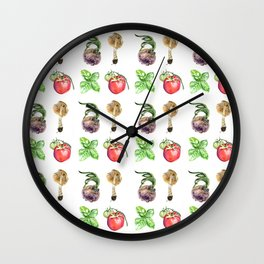 Original watercolor kitchen ideas Wall Clock