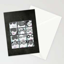 Goggles & Glasses vertical Stationery Cards