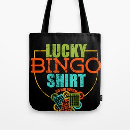 Lucky Bingo graphic Do Not Wash For Gamblers design Tote Bag