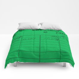 Library Card 797 Green Comforters