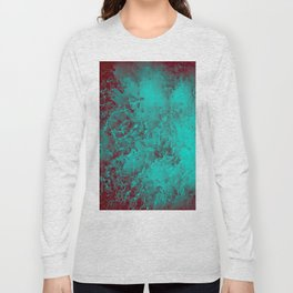 Under the Sea | Teal + Red Long Sleeve T-shirt