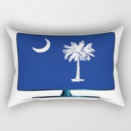 South Carolina Flag TV Rectangular Pillow