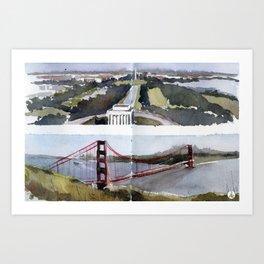 Washington DC & San Francisco  Art Print